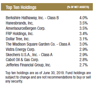 Capital Fund - 2Q19 Commentary - Intrepid Capital